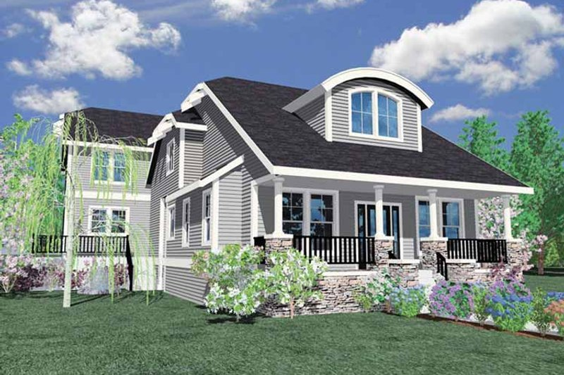 Traditional Exterior - Front Elevation Plan #509-291 - Houseplans.com