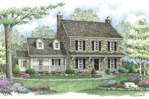 Country Exterior - Front Elevation Plan #1002-5