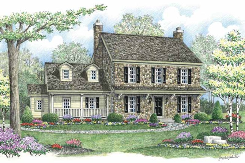 Country Exterior - Front Elevation Plan #1002-5 - Houseplans.com