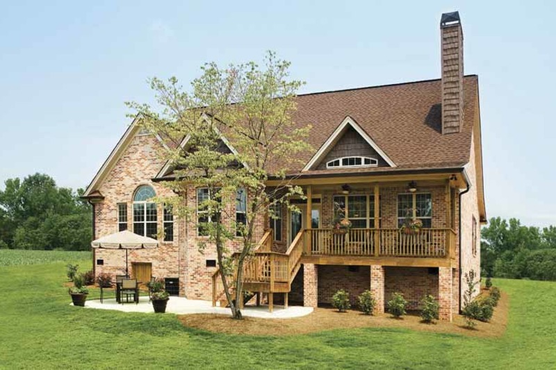 Ranch Exterior - Rear Elevation Plan #929-601 - Houseplans.com