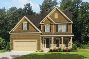 Country Exterior - Front Elevation Plan #1010-121