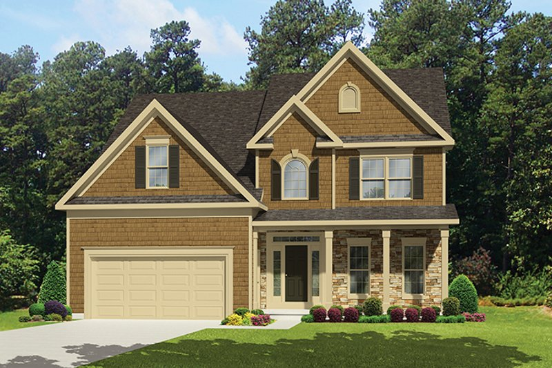 Architectural House Design - Country Exterior - Front Elevation Plan #1010-121