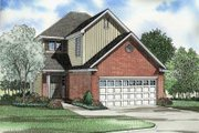Traditional Style House Plan - 3 Beds 2.5 Baths 1478 Sq/Ft Plan #17-425 Exterior - Front Elevation