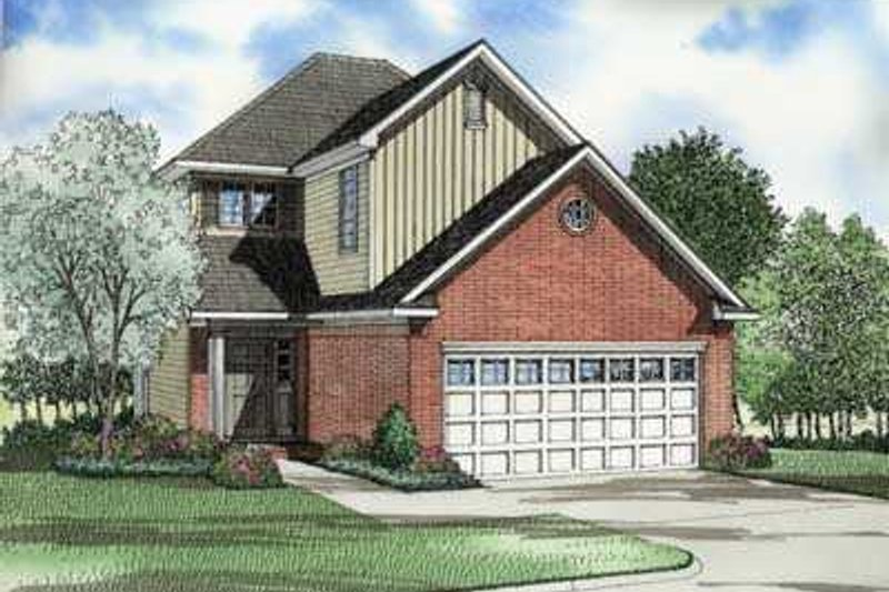 Traditional Style House Plan - 3 Beds 2.5 Baths 1478 Sq/Ft Plan #17-425