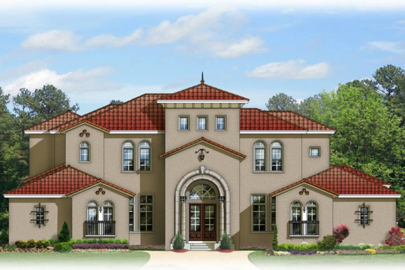 Mediterranean Exterior - Front Elevation Plan #1058-97