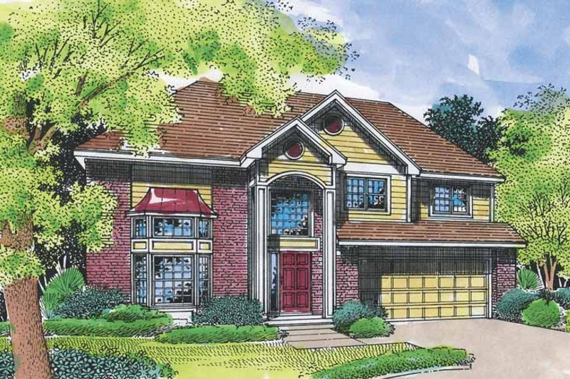 Traditional Exterior - Front Elevation Plan #320-544