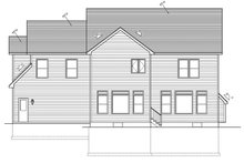 Country Exterior - Rear Elevation Plan #1010-91