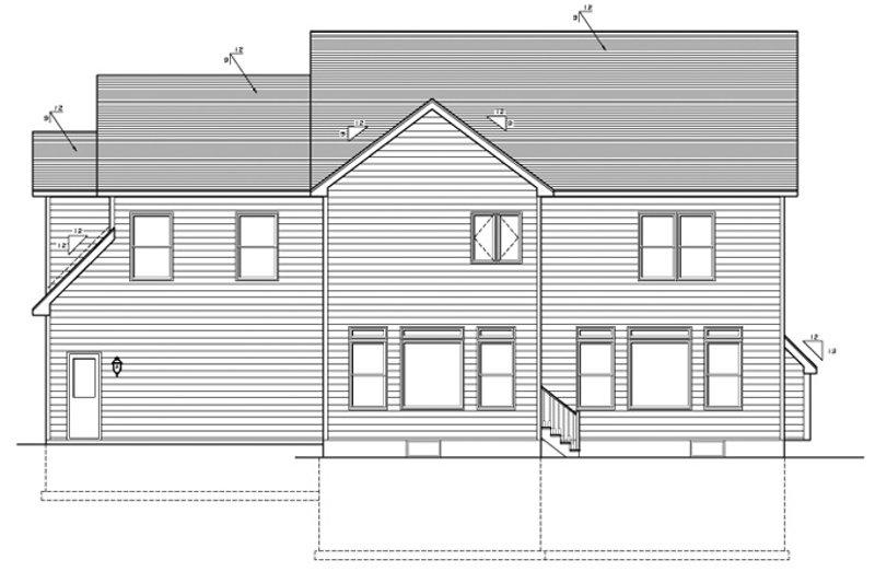Country Exterior - Rear Elevation Plan #1010-91 - Houseplans.com