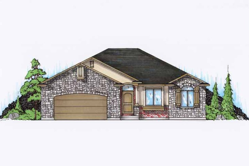 Ranch Exterior - Front Elevation Plan #945-87