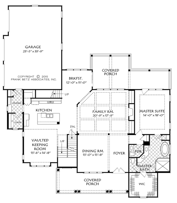 Farmhouse Style House Plan - 4 Beds 4.5 Baths 3316 Sq/Ft Plan #927-978 Floor Plan - Main Floor Plan