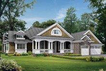 Craftsman Exterior - Front Elevation Plan #132-282