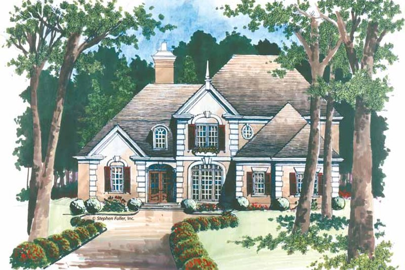 European Exterior - Front Elevation Plan #429-274 - Houseplans.com