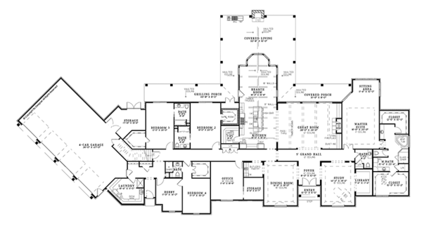Architectural House Design - European Floor Plan - Main Floor Plan #17-3347