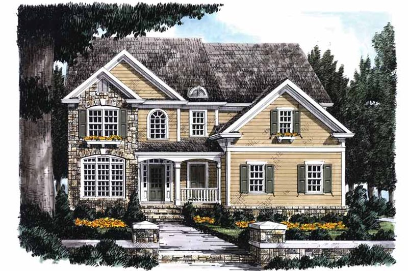 Country Exterior - Front Elevation Plan #927-740 - Houseplans.com