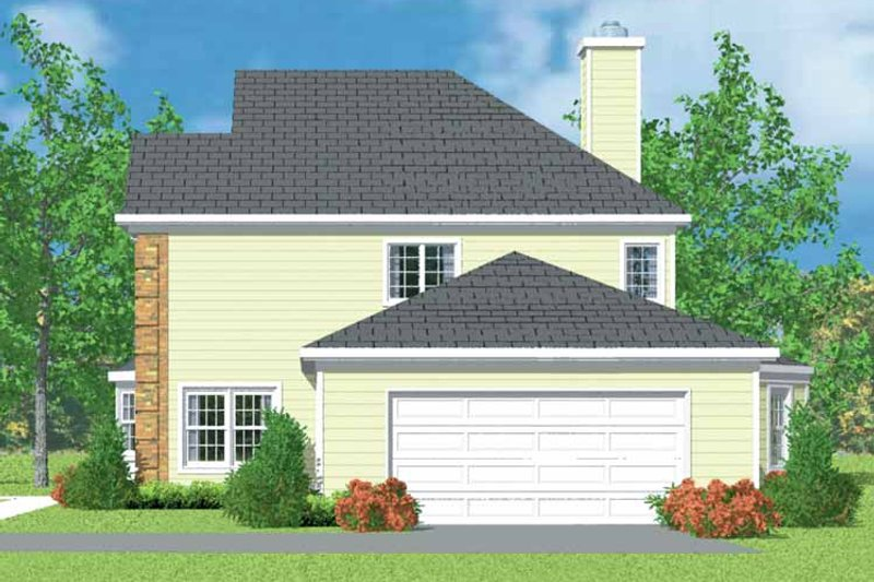 Country Exterior - Other Elevation Plan #72-1102 - Houseplans.com