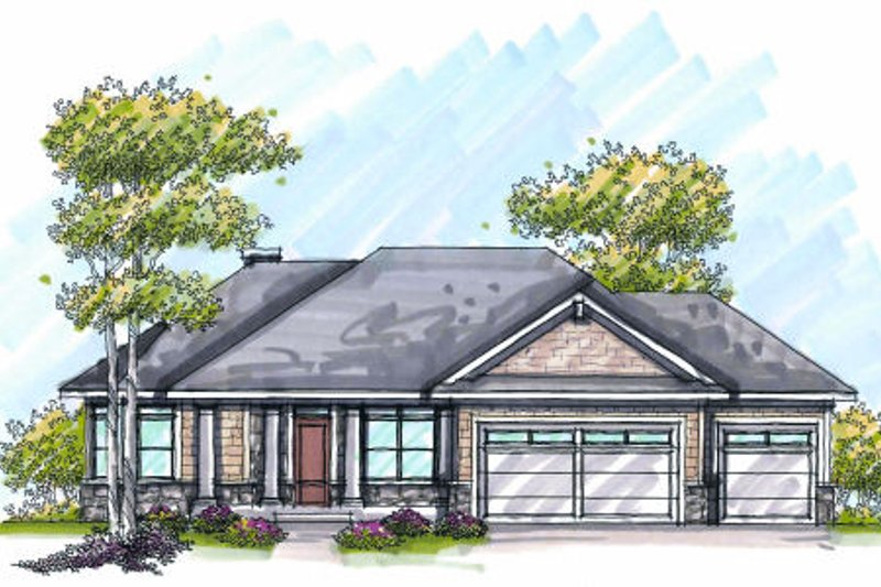 Traditional Exterior - Front Elevation Plan #70-975 - Houseplans.com