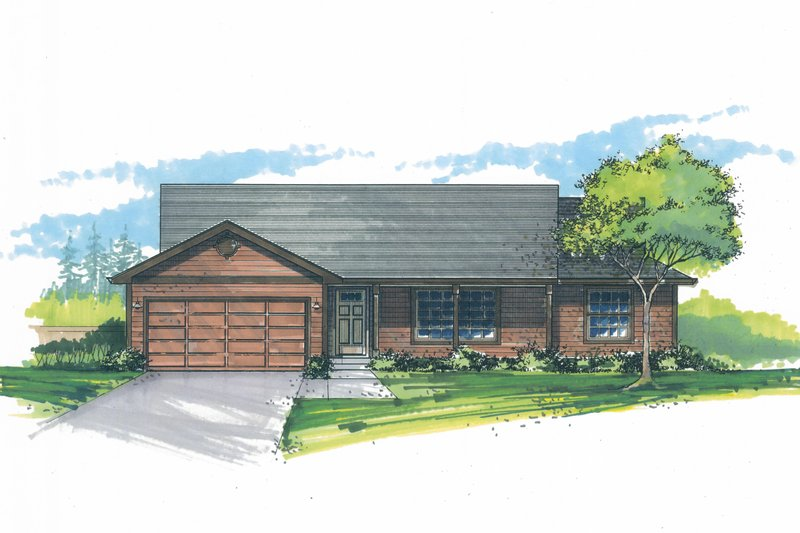 Craftsman Exterior - Front Elevation Plan #53-598