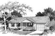 Ranch Style House Plan - 3 Beds 1 Baths 988 Sq/Ft Plan #57-107