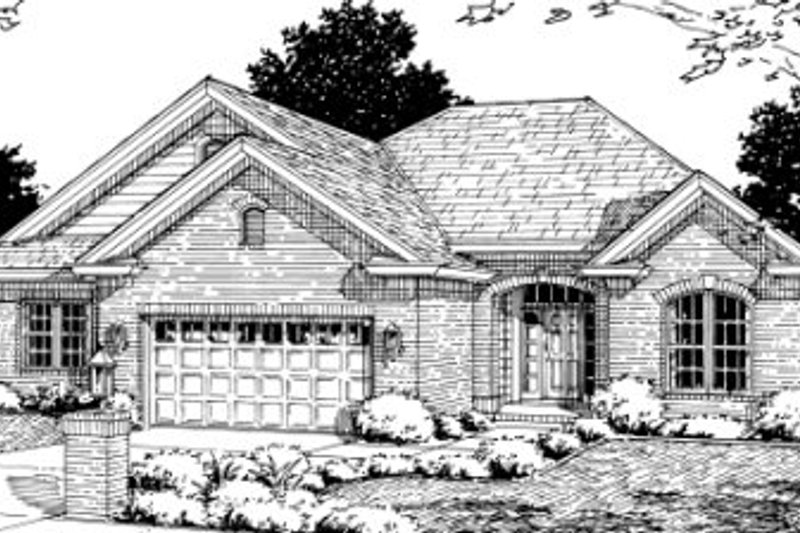 Traditional Exterior - Front Elevation Plan #20-352 - Houseplans.com