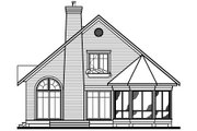 Country Style House Plan - 3 Beds 2 Baths 1468 Sq/Ft Plan #23-2042 Exterior - Other Elevation