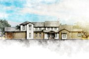 Country Style House Plan - 4 Beds 4 Baths 3382 Sq/Ft Plan #80-196 Exterior - Front Elevation