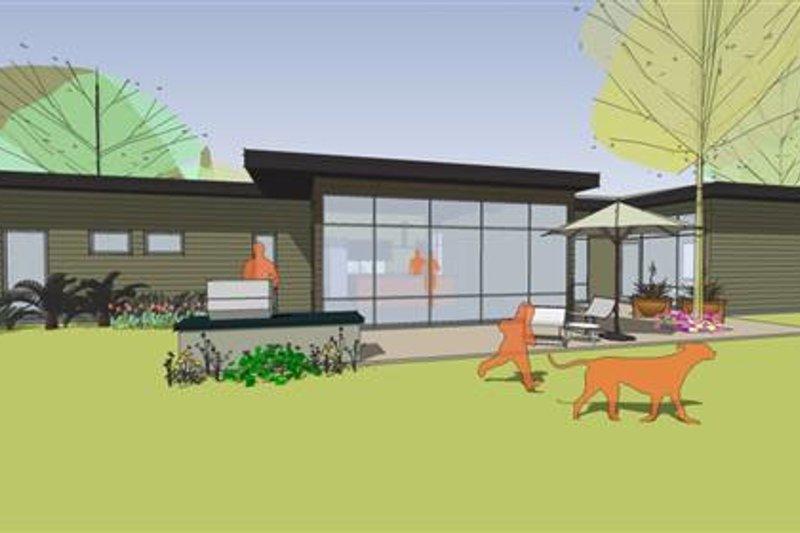 Modern Style House Plan - 4 Beds 3.5 Baths 1984 Sq/Ft Plan #460-3