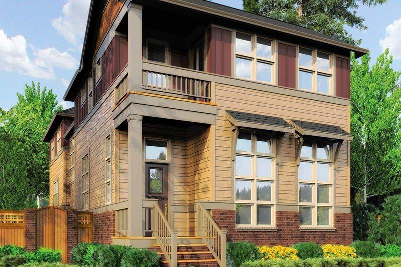 Dream House Plan - Cottage Exterior - Front Elevation Plan #48-265