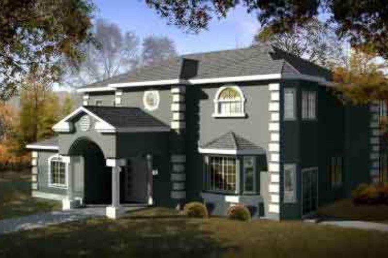 European Style House Plan - 4 Beds 3.5 Baths 2662 Sq/Ft Plan #1-1476
