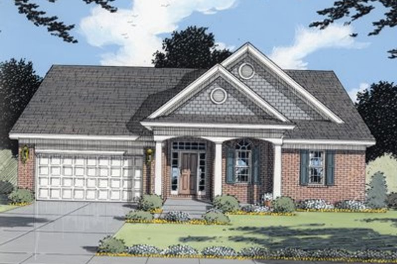 Traditional Exterior - Front Elevation Plan #46-108