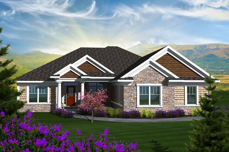 Ranch Exterior - Front Elevation Plan #70-1136 - Houseplans.com