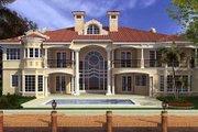 Mediterranean Style House Plan - 5 Beds 5.5 Baths 8441 Sq/Ft Plan #420-199 Exterior - Rear Elevation