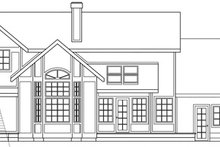 Farmhouse Exterior - Rear Elevation Plan #124-125
