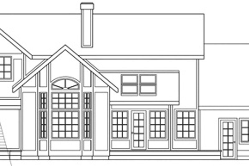 Farmhouse Exterior - Rear Elevation Plan #124-125 - Houseplans.com