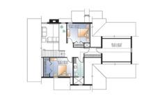 Country Floor Plan - Upper Floor Plan Plan #23-2562