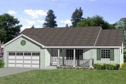 Ranch Style House Plan - 3 Beds 2 Baths 1364 Sq/Ft Plan #116-243 Exterior - Front Elevation