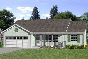 Ranch Exterior - Front Elevation Plan #116-243