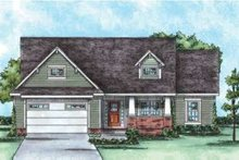 Dream House Plan - Bungalow Exterior - Front Elevation Plan #20-1756