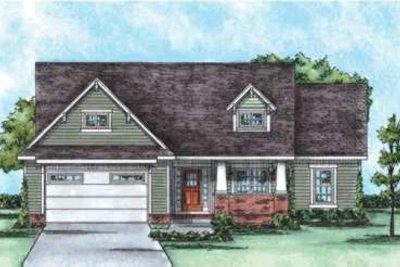 Bungalow Exterior - Front Elevation Plan #20-1756