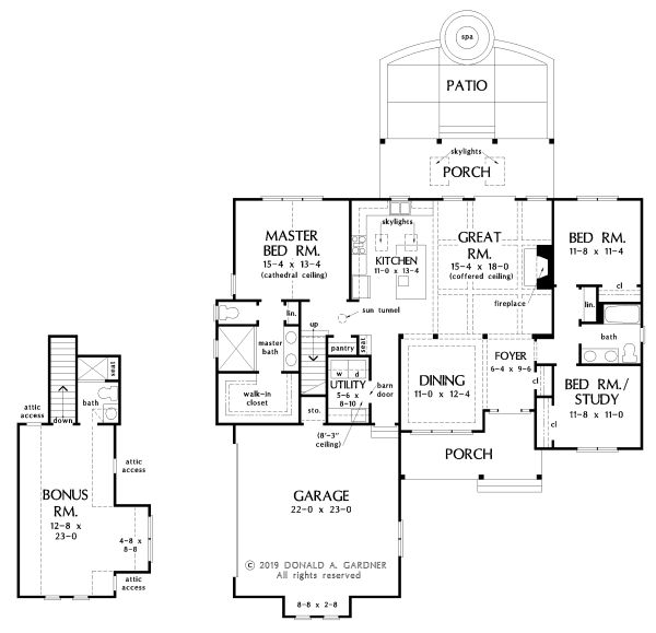 Ranch Floor Plan - Main Floor Plan Plan #929-1100