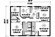Country Style House Plan - 2 Beds 1 Baths 1064 Sq/Ft Plan #25-4841 Floor Plan - Main Floor Plan