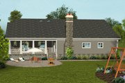 Craftsman Style House Plan - 4 Beds 3 Baths 2099 Sq/Ft Plan #56-711 Exterior - Rear Elevation