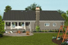 Craftsman Exterior - Rear Elevation Plan #56-711