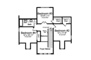 Traditional Style House Plan - 4 Beds 2.5 Baths 2410 Sq/Ft Plan #46-852 Floor Plan - Upper Floor