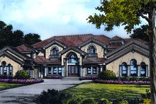 Dream House Plan - European Exterior - Front Elevation Plan #417-444