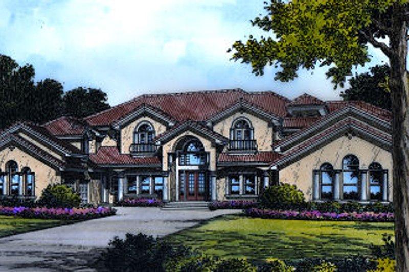 European Style House Plan - 6 Beds 6.5 Baths 5826 Sq/Ft Plan #417-444