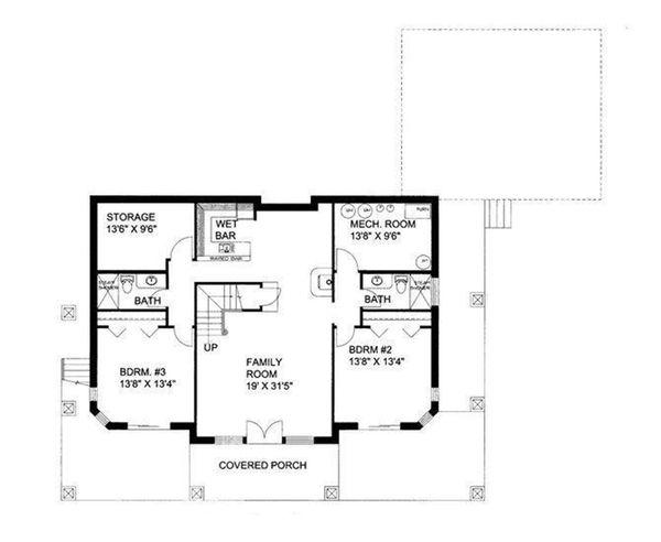 House Plan Design - Ranch Floor Plan - Lower Floor Plan #117-877