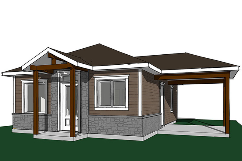 Ranch Exterior - Front Elevation Plan #23-2607