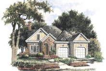 Colonial Exterior - Front Elevation Plan #429-284