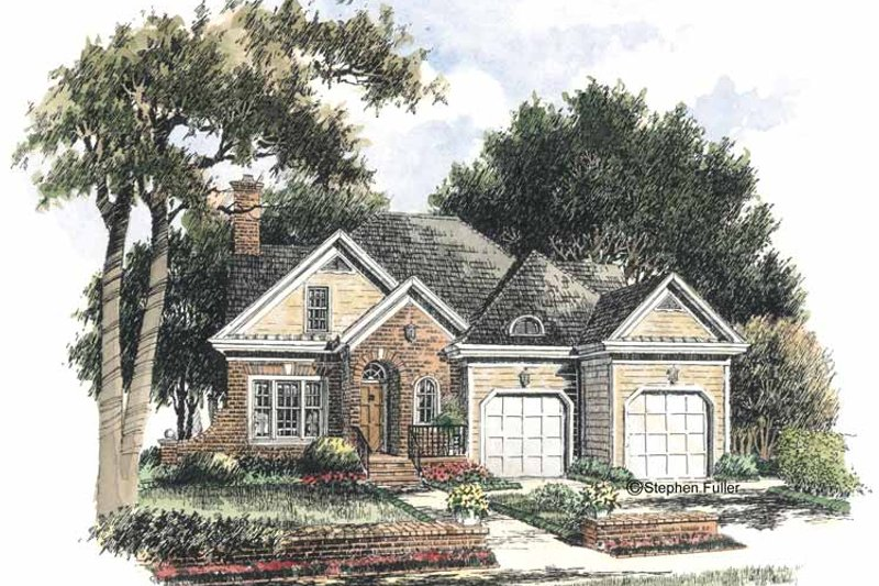 Colonial Exterior - Front Elevation Plan #429-284 - Houseplans.com