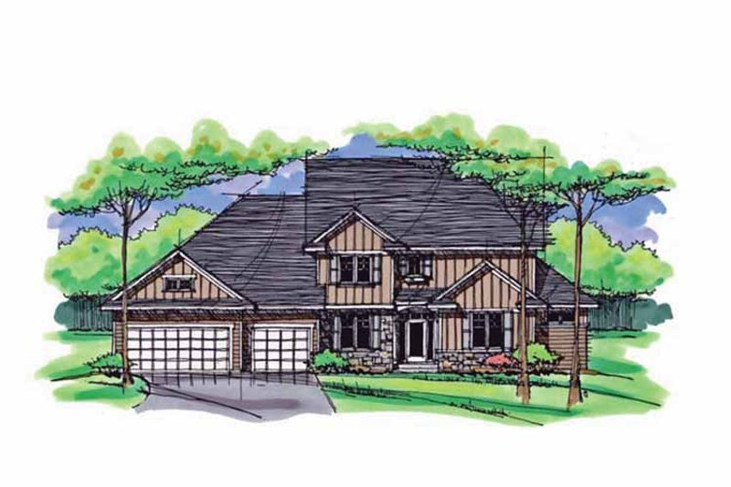 Colonial Exterior - Front Elevation Plan #51-1021 - Houseplans.com